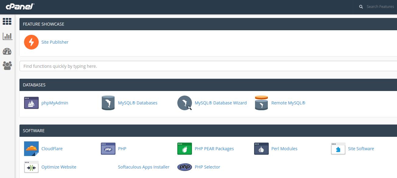 Хостинг php mysql cpanel хостинг для почты со своим доменом бесплатно